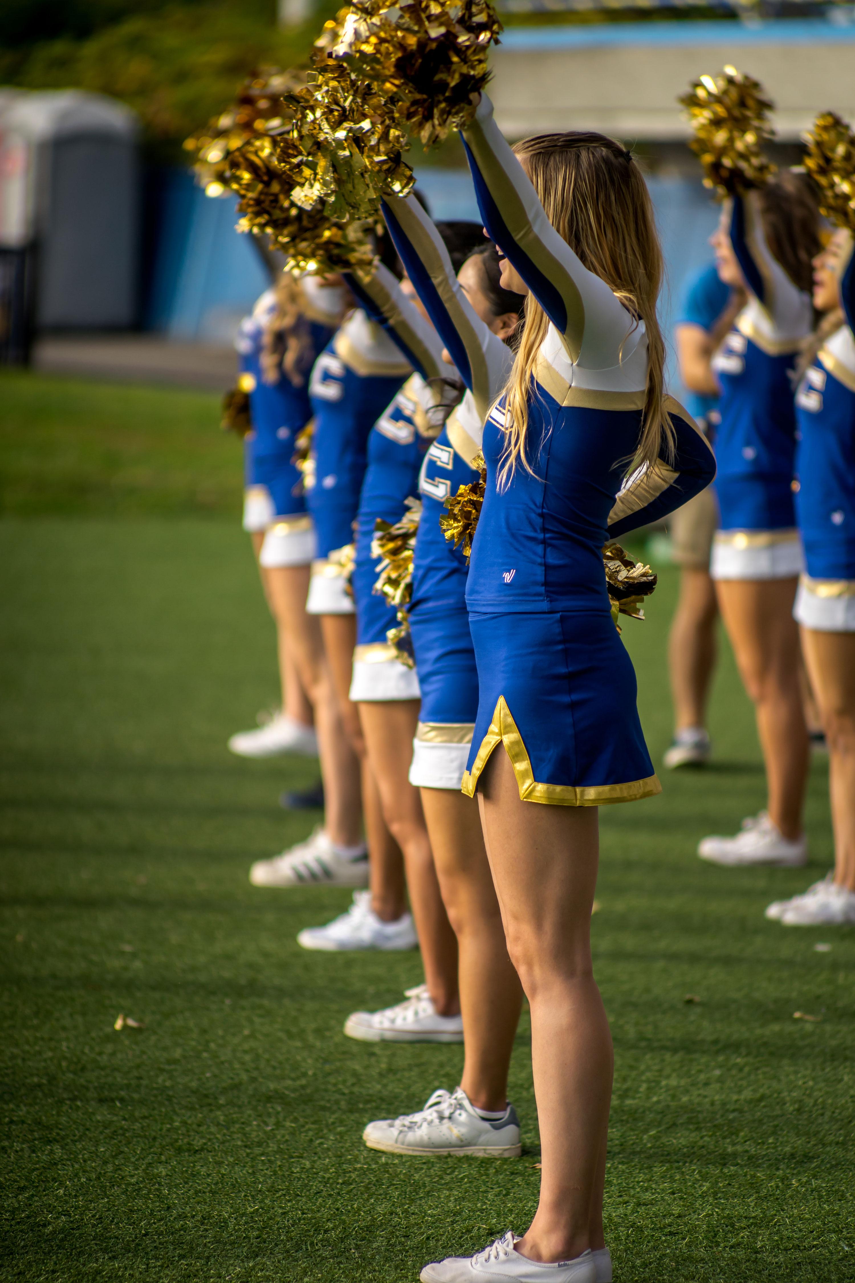 Cheerleaders at Homecoming 2017
