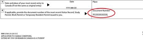 Document number screenshot