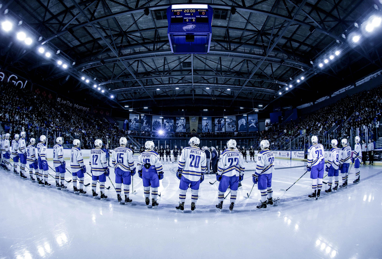 Hockey Team on Ice