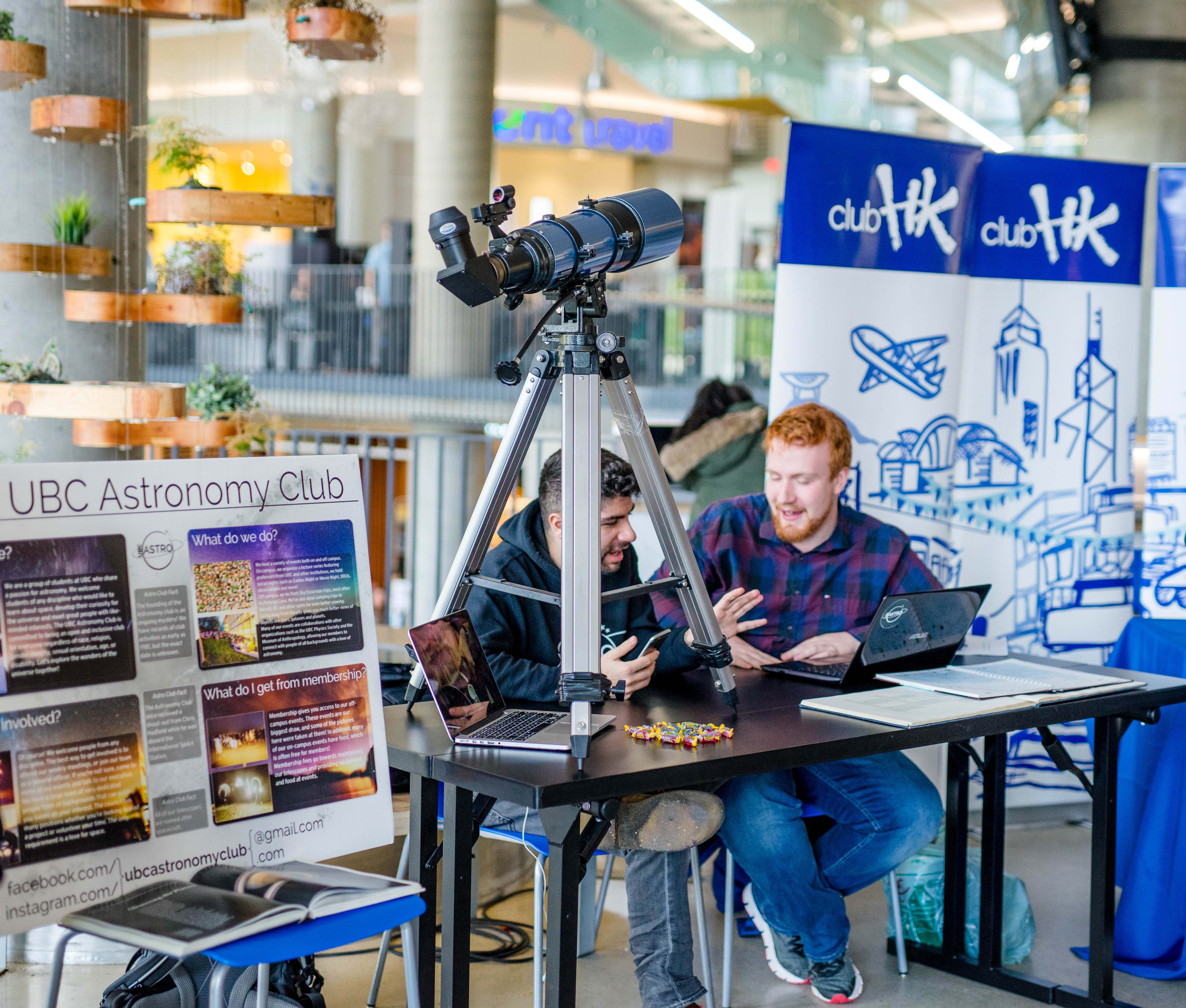 UBC Astronomy Club booth at Clubs Day