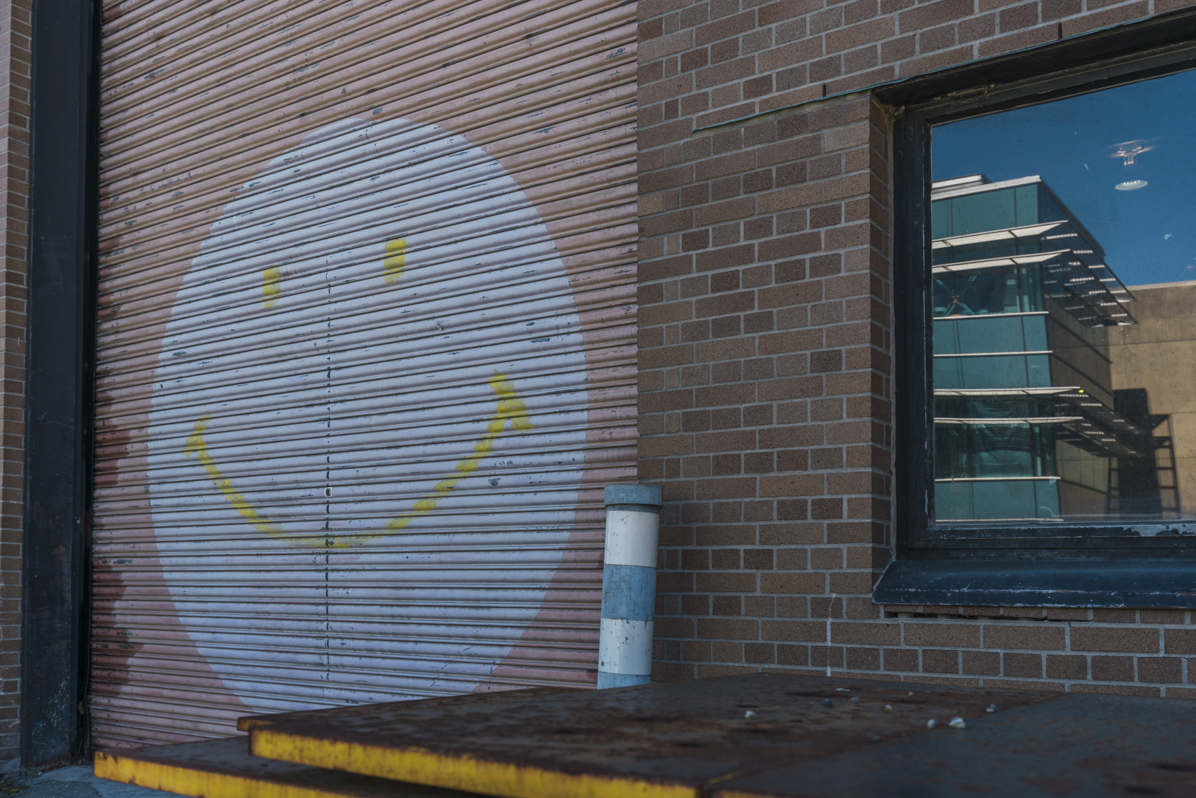 A smiley face outside of the Beaty Biodiversity building.