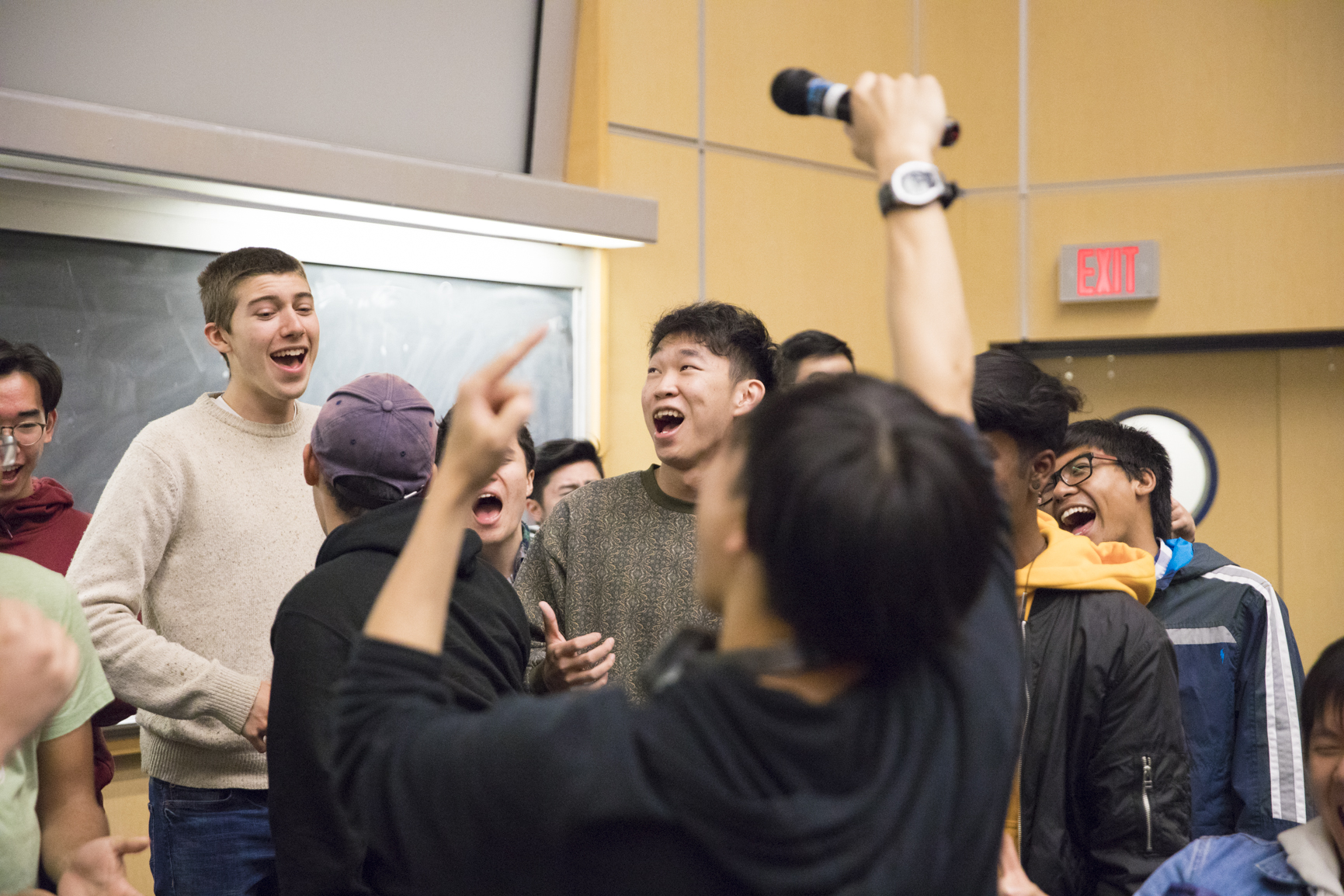 Students performing in UBC A Cappella.