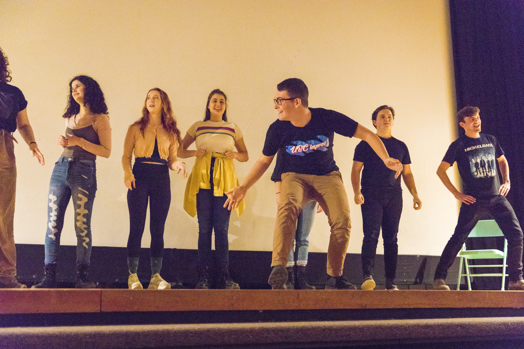 improv students on stage