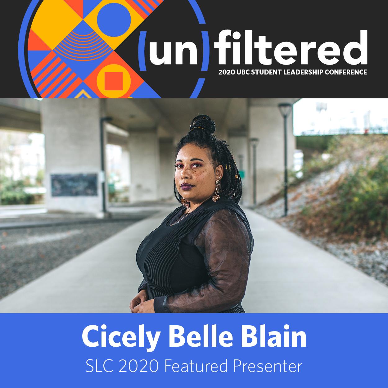 SLC 2020 Featured Presenter Cicely Belle Blain