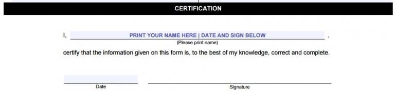 certification field