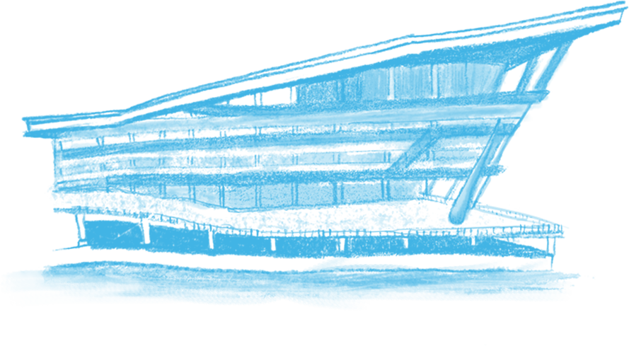 Illustration of the Vancouver Convention Centre