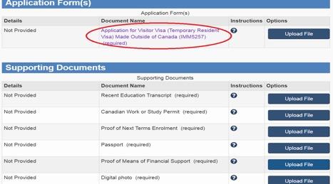 TRV Document checklist