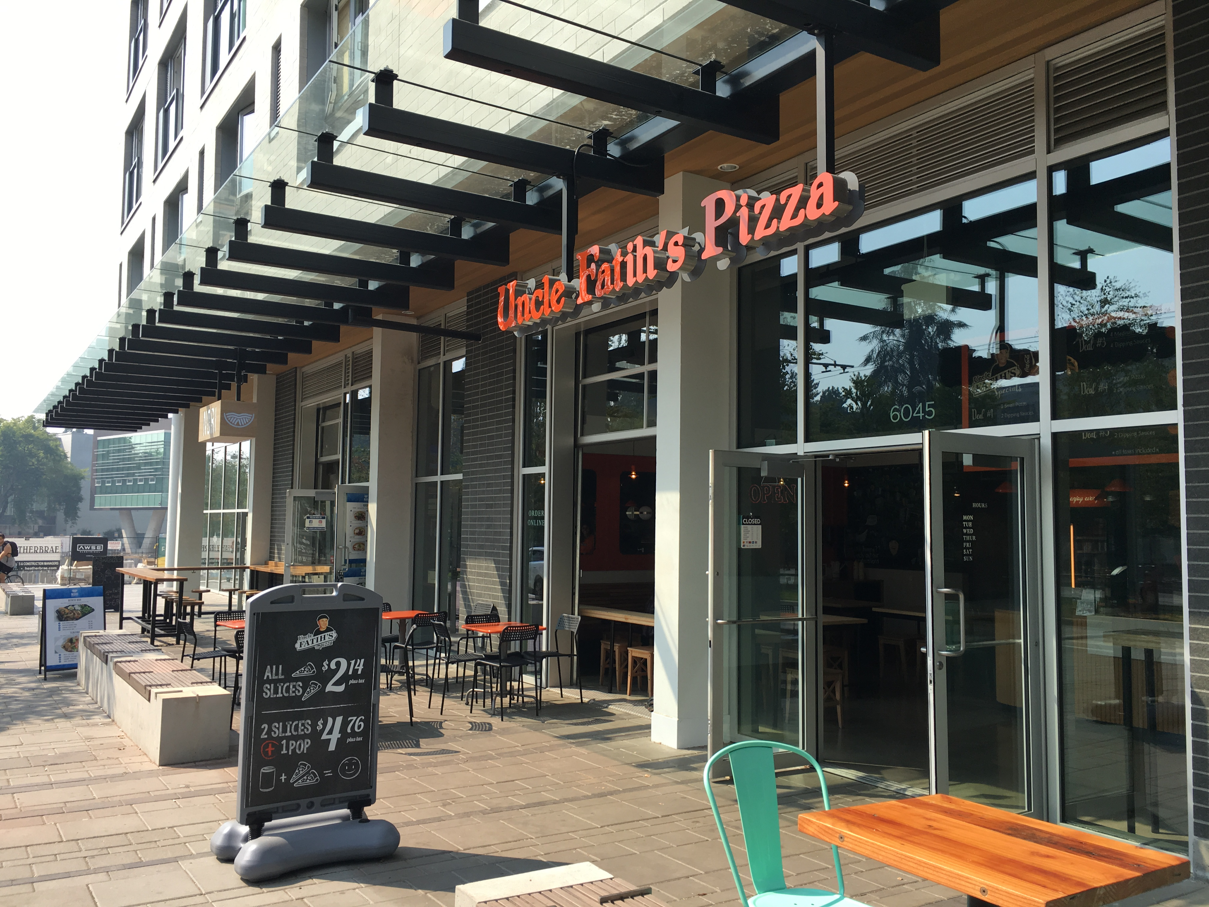 Uncle Fatihs pizza UBC