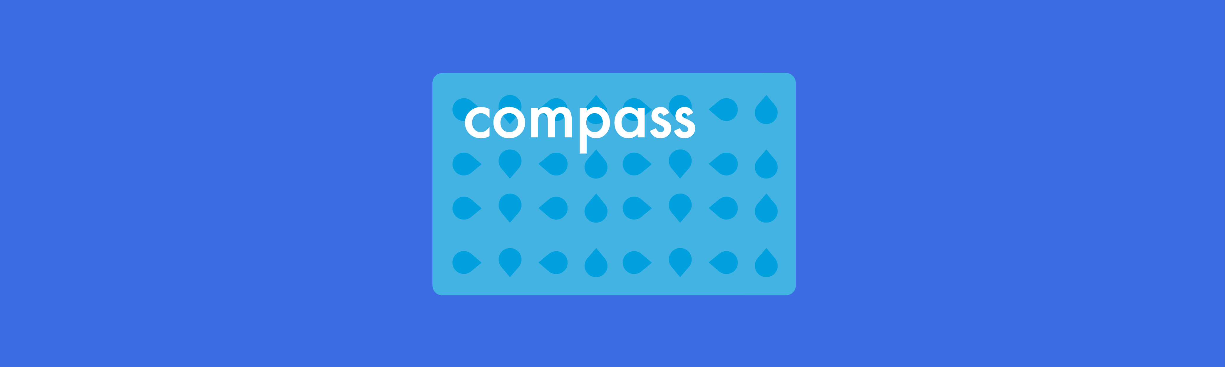 Colourful illustration of compass card