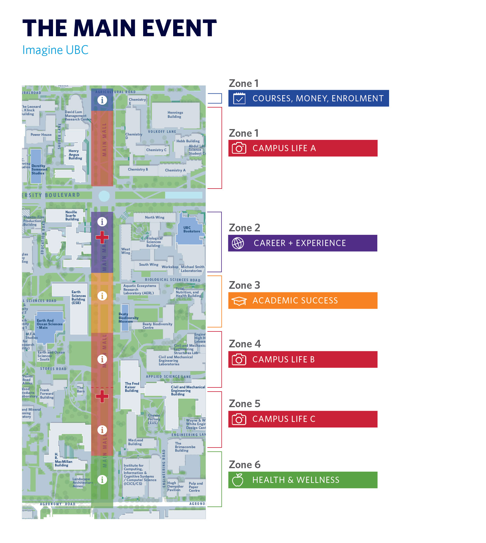 A map of the Main Event at UBC
