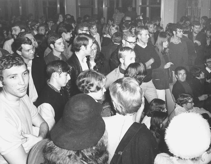 Student sit-in at Faculty Club on Oct 25, 1968