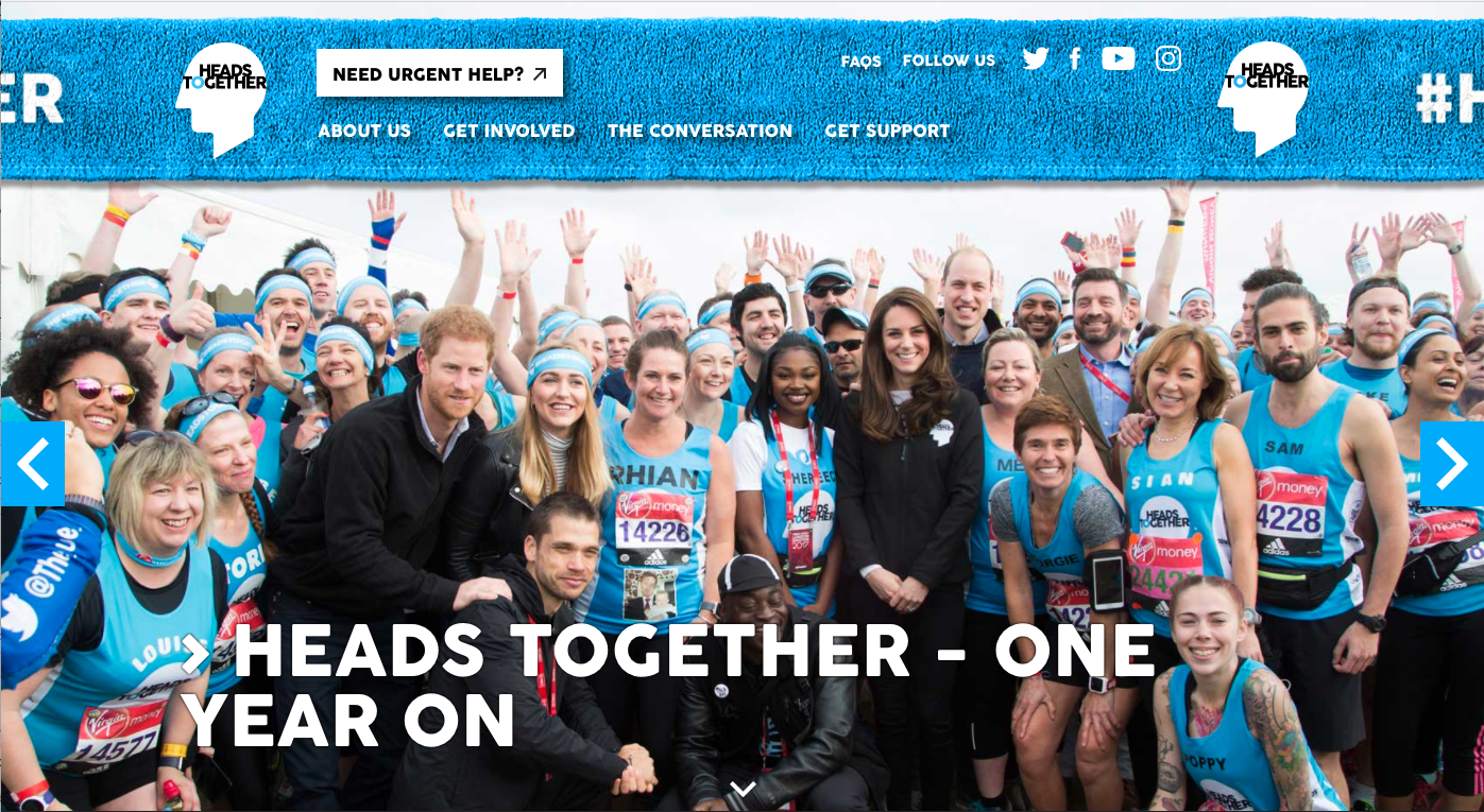 Heads Together webpage