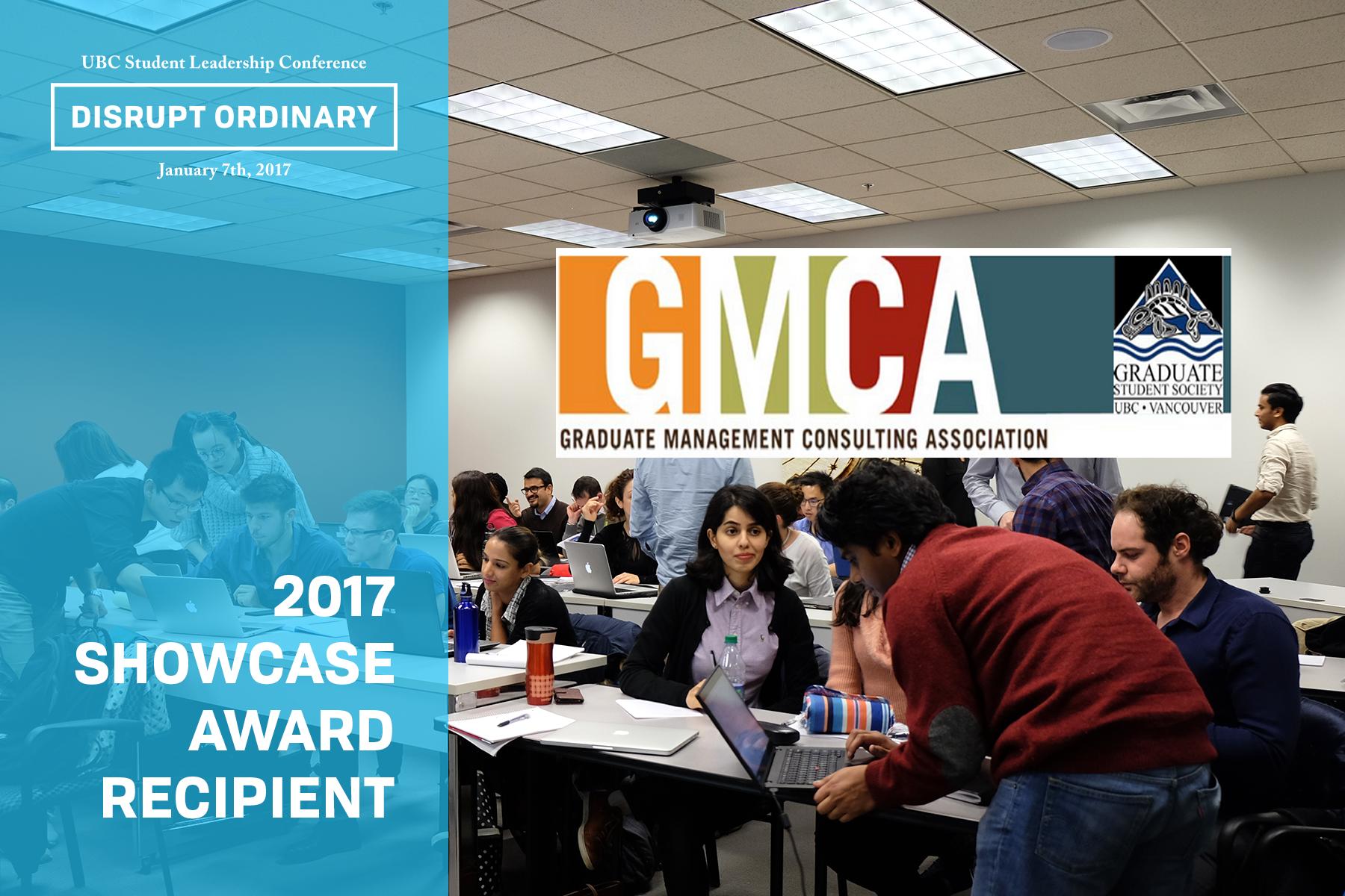Showcase Award Recipient - Graduate Management Consulting Association