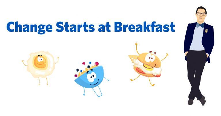 Change Starts at Breakfast graphic