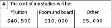 cost of my studies
