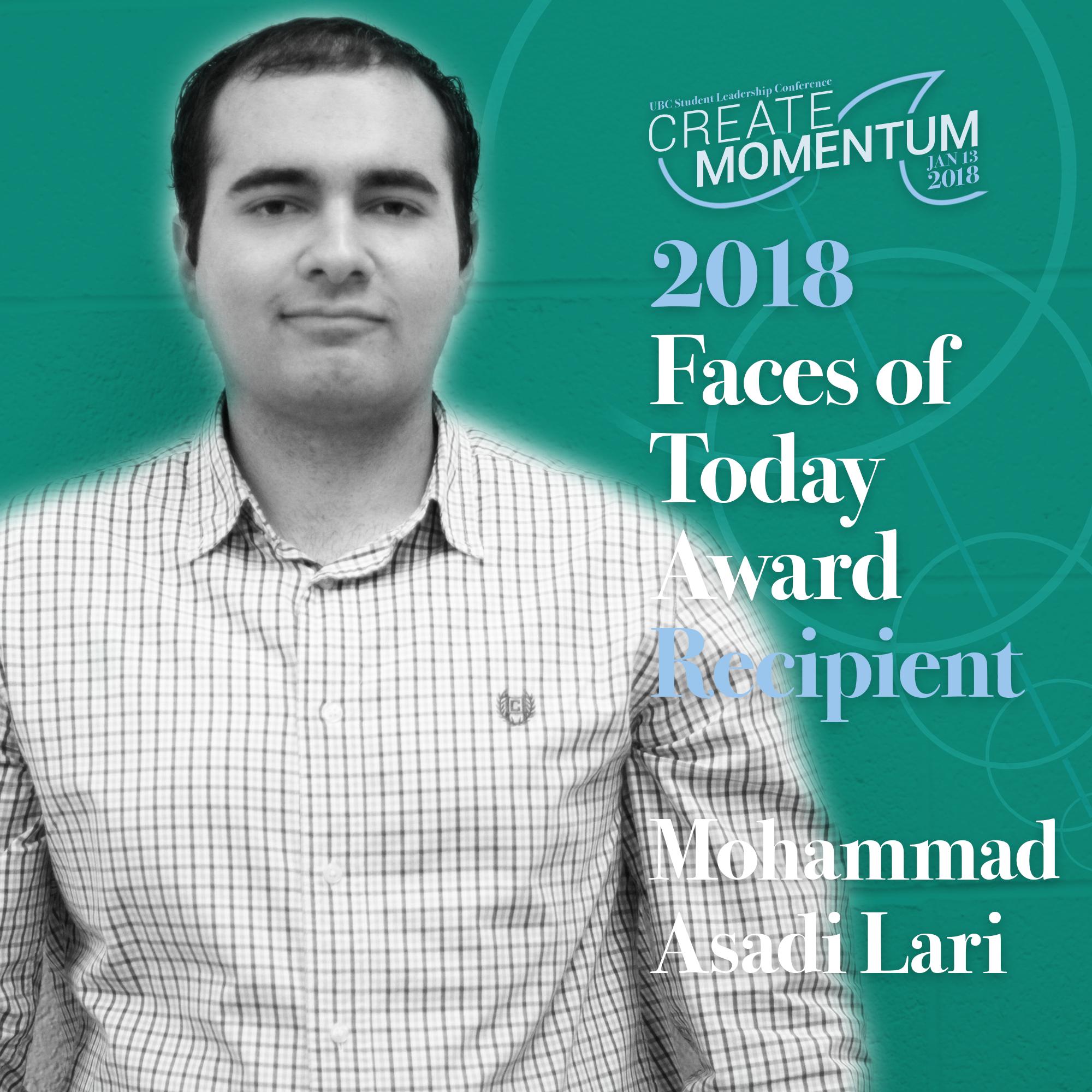 SLC Faces of Today Mohammad Asadi Lari