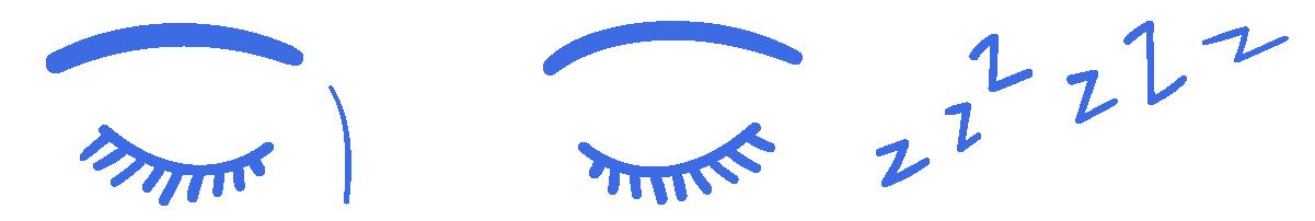 Illustration of shut eyes