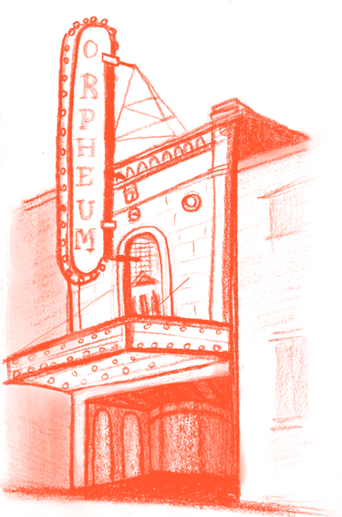 Illustration of the Orpheum in Vancouver