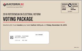 2018 Referendum on Electoral Reform voting package