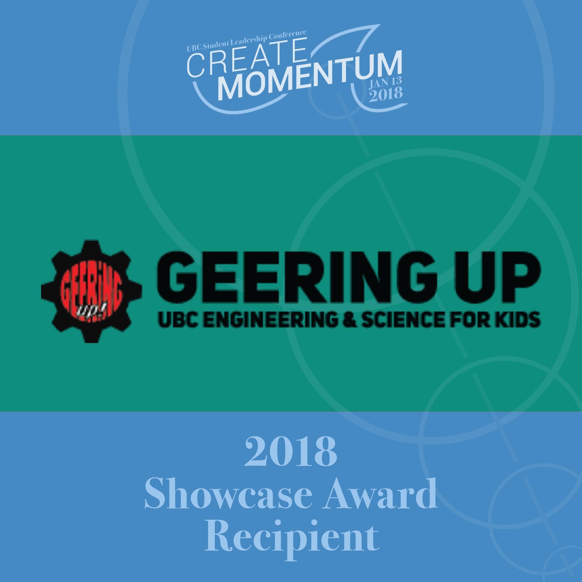 SLC Showcase Award Geering Up