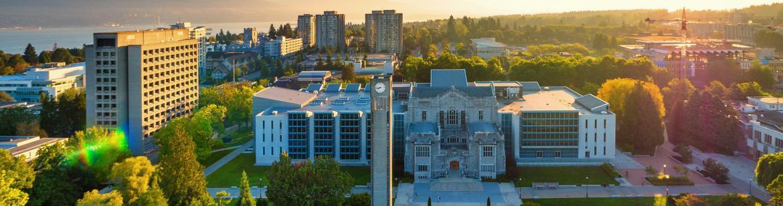 aerial shot of campus