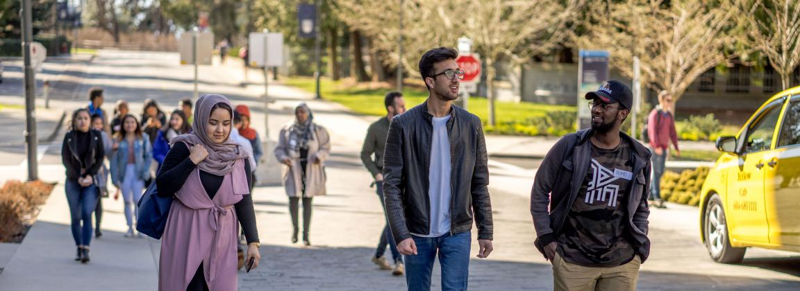 EdMeCo participants walking around UBC