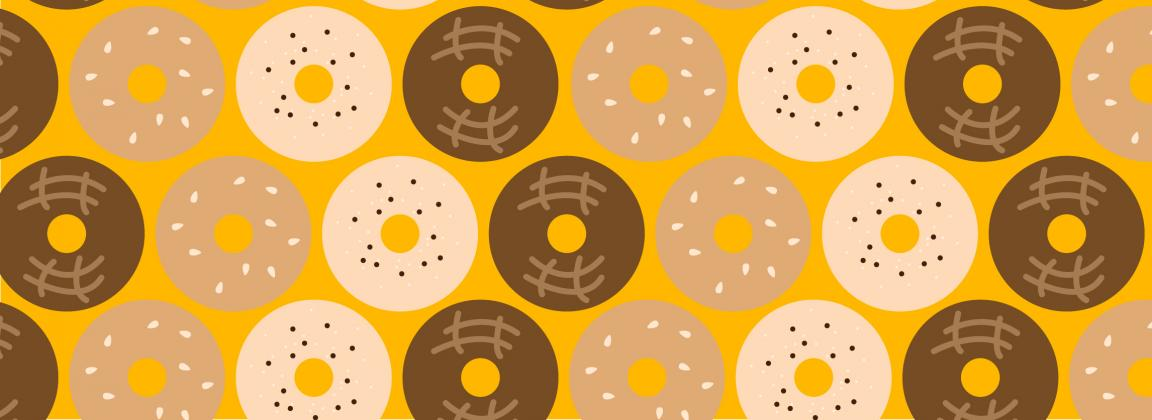 illustrated bagels
