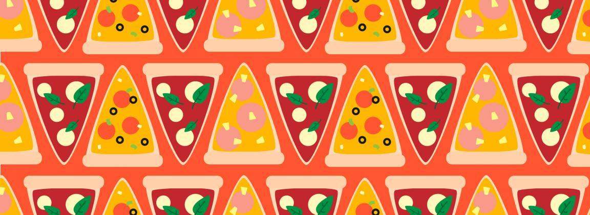 illustrated pizza