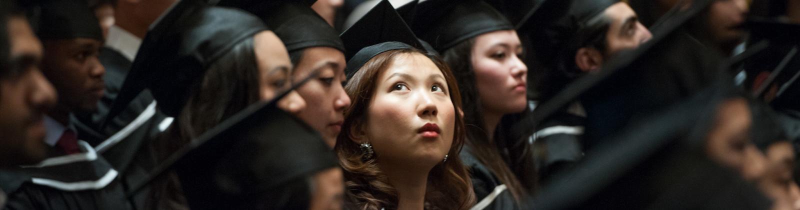 student at grad ceremony