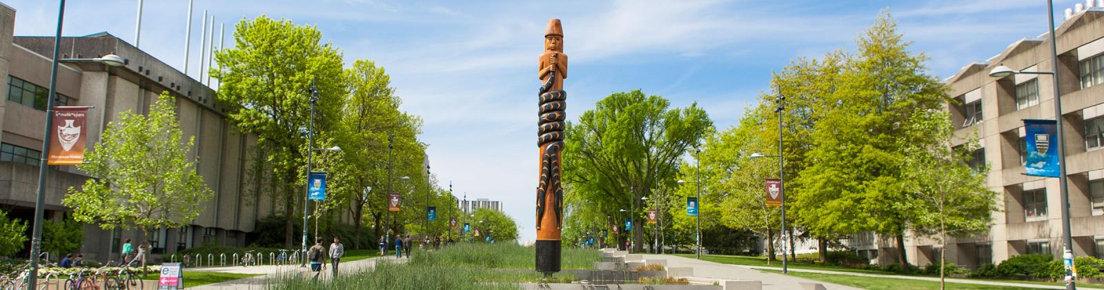 Musqueam welcome totem