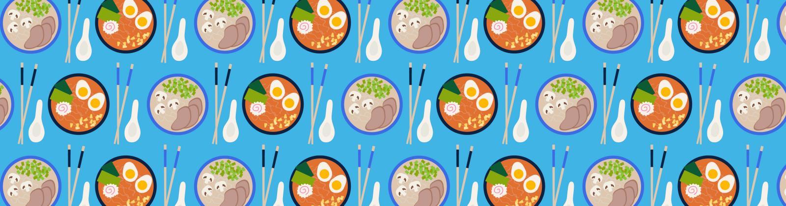 illustration of ramen