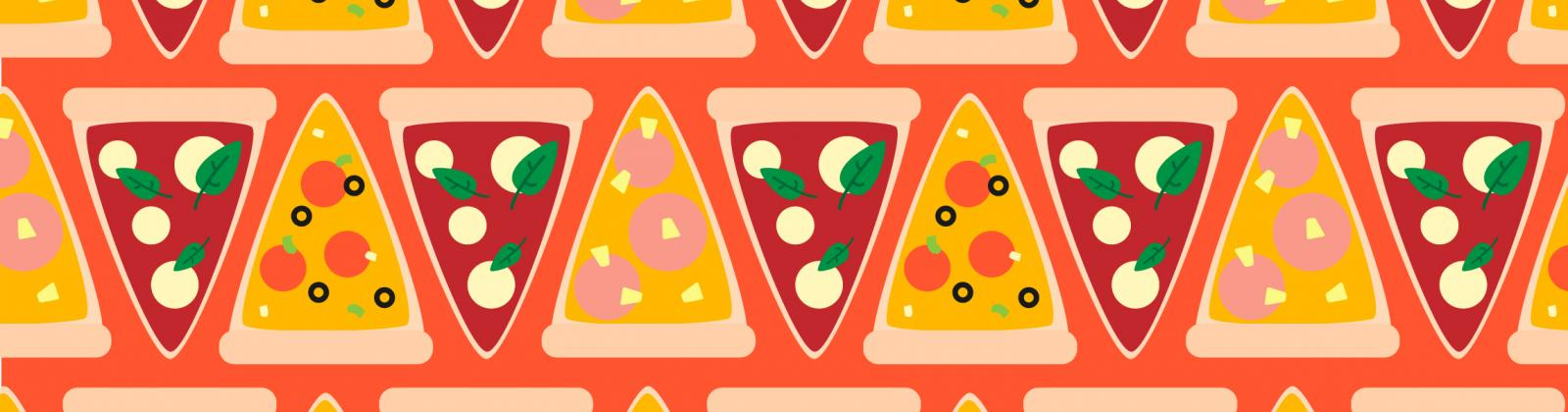 illustrated pizza