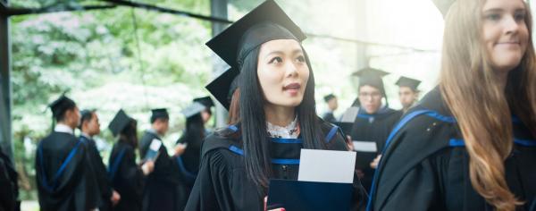 Students at UBC graduation
