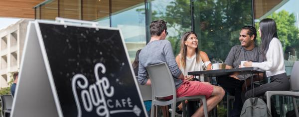 UBC students hanging out together at Loafe Cafe