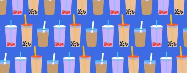 illustrations of bubble tea
