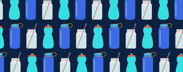 fountain water in bottles