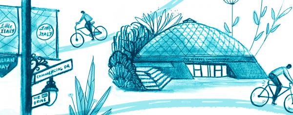 Illustration of springtime in Vancouver