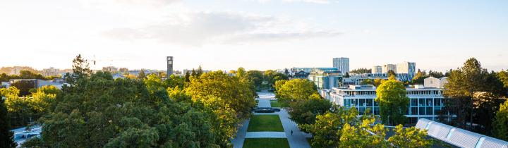 Aerial view of main mall ubc