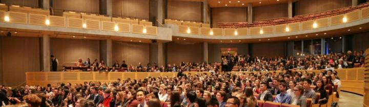 Audience sitting in the Chan Centre