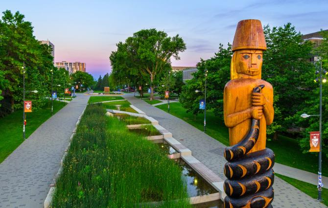 Musqueam Welcome Post