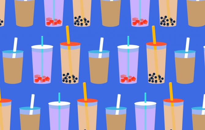 illustrations of bubble tea