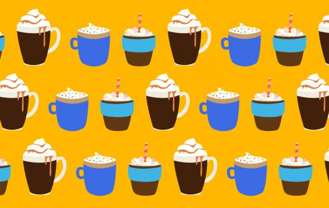 hot chocolate illustrations