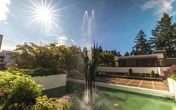 Transcendance sculpture on UBC campus