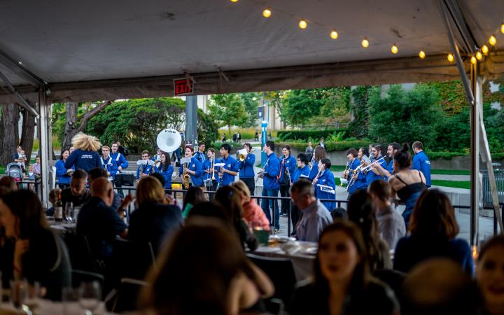 UBC marching band playing at Harvest Feastival 2017