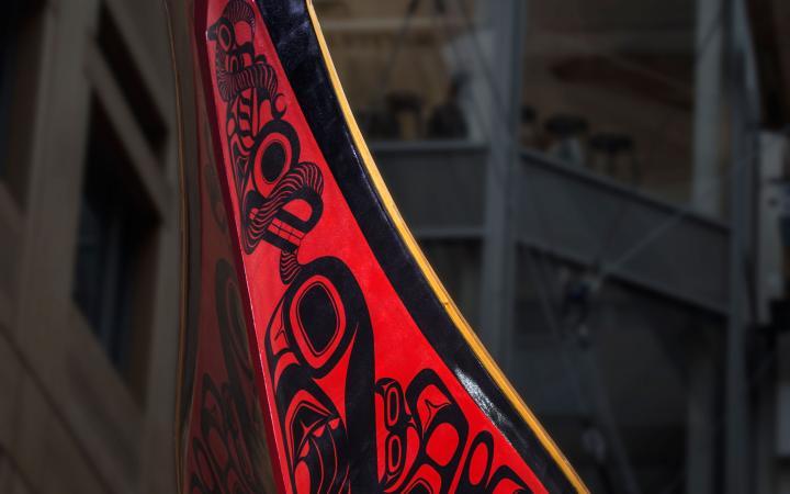 Closeup of the Haida Looplex X Canoe