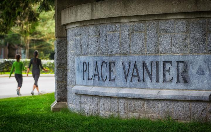 Building sign for Place Vanier Residences