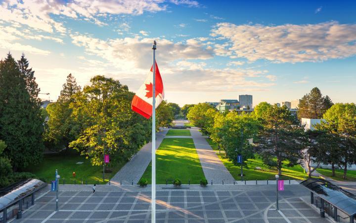 UBC flag & landscape