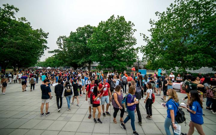Students at Main Mall on Imagine UBC day.