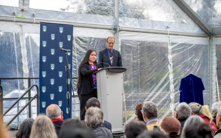 Adina Williams speaking at the IRHDC opening