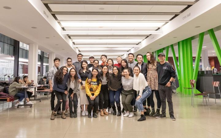 Group picture of students attending the club